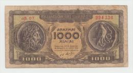 GREECE 1000 DRACHMAI 1950 AVF Pick 326a 326 A - Greece