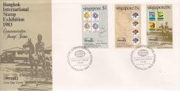 Singapore 1983 Bangkok International Stamp Exhibition FDC - Singapore (1959-...)