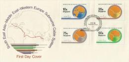 Singapore 1986 Submarine Cable FDC - Singapore (1959-...)