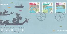 Singapore 1987 River Life FDC - Singapore (1959-...)