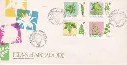 Singapore 1990 Ferns FDC - Singapore (1959-...)