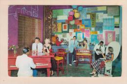 D54624 Postcard Vintage Bahamas Nassau, Hong Kong Bar British Colonial Hotel 1958, Used