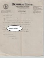 Document Du 17/09/1919 HUGUES BROS Vins Liqueurs Cigares - Vancouver - Canada - Canada
