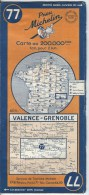 Carte MICHELIN  77 VALENCE GRENOBLE 1949 - Cartes Routières