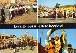 München - Mehrbildkarte 29  Oktoberfest  Mit Zusatzstempel Mathäser Bierstadt - Muenchen
