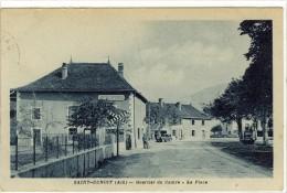 Carte Postale Ancienne Saint Benoit - Quartier Du Centre. La Place - Autres Communes