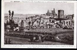 78, HOUDAN, VUE PRISE DE LA ROUTE PARIS-BREST SITUEE AU CONFLUENT DE LA VESGRES ET DE L'OPTON, VOITURE A CHIEN - Houdan