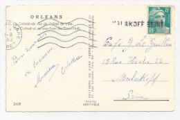 Griffe Linéaire 1952 MALAKOFF SEINE Sur Marianne De Gandon Hauts De Seine 92 - Marcophilie (Lettres)