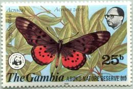 N° Michel 402 (N° Yvert 403) - WWF - Timbre De Gambie (MNH) (1980)  - Acraea (Acraea Zetes) (JS) - Gambie (1965-...)