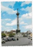 PARIS - PLACE DE LA BASTILLE EN 1967 - N° 5157 - VIEILLES VOITURES - CITROEN 2CV - PEUGEOT  ... CPSM GF - Piazze