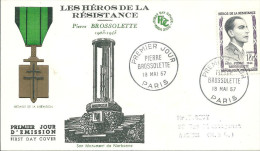 Héros De La Résistance 18 Mai 1957paris Pierre Brossolette - 1950-1959