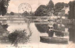 14 CAEN BORDS DE L'ORNE CIRCULEE 1907 - Caen
