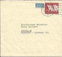 Bund 215 EF Auf Beleg 1955 Bad Godesberg - Stuttgart - BRD