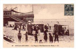 Dept 33,Gironde,Cpa Soulac Sur Mer,La Plage Et L'Etablissement Des Bains - Soulac-sur-Mer