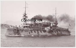Marine fran�aise - Photographie originale du cuirass� MARCEAU (1887-1920) - Photo Marius BAR