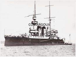 Marine fran�aise - Photographie du garde-c�tes cuirass� HENRI IV (1899-1921)  - Photo Marius BAR