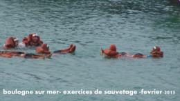 boulogne sur mer - au port -exercices de sauvetage-photo