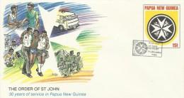 Papua New Guinea 1987 Order Of St John Prepaid Envelope N13 FDC - Papoea-Nieuw-Guinea