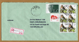Enveloppe Cover Brief Aangetekend Registered Recommandé Olyff 2457 Bloc De 6 Buzin Habay - Belgique