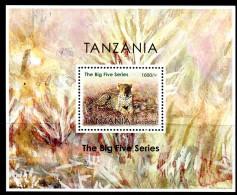"""TANZANIA  2014  MNH   -  """" FAUNE / ANIMAUX  PROTÉGÉS - LEOPARD """"  -  1 BLOC - Timbres"""