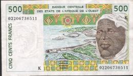 W.A.S. SENEGAL   P710Km   500  Francs   2002      VF No P.h. - Sénégal