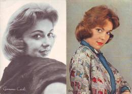 Germana Caroli Cantante, 2  Fotocartoline  Originali  Con Discografia - Entertainers
