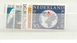 1957 MNH Nederland, Nvph 695-99 Rode Kruis, Posffris - Red Cross