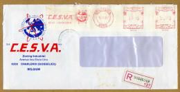 Enveloppe Cover Brief Aangetekend Registered Recommandé C.E.S.V.A. Gosselies - Belgien