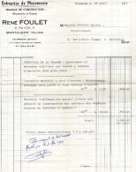 ALLIER   @@  MONTLUçON  **  ENTREPRISE DE MAçONNERIE / RENE FOULET - France