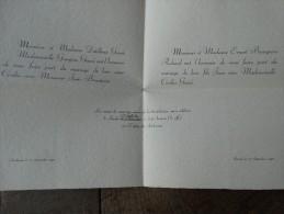 Surlemez 1942,mariage De Cécilia Genoë Et Jean Bourgeois - Boda