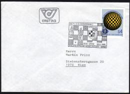 ÖSTERREICH 1985 - Schach Kongreß In Graz - FDC Gelaufen - Schach
