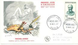 Paris 9 11 1957  Michel Ange - FDC