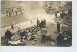 Exceptionnel.5 photos originales format CPA de l'accident des 24 heures du mans automobile 1955