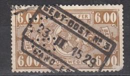 Belgique Colis Postaux N°158  Perfin Perforé FB - Perfins