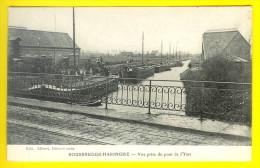 ROUSBRUGGE-HARINGHE : VUE PRISE DU PONT DE L� YSER - PENICHE - AAK - ROESBRUGGE HARINGE = POPERINGE - WW1 GUERRE Q64