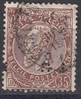 Belgique Léopold II N°49  Perfin Perforé LC Minuscule - Perforés