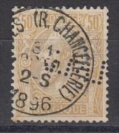 Belgique Léopold II N°50  Perfin Perforé LMJ - Perforés