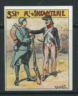 VIGNETTE DELANDRE FRANCE 351ème Regt Infanterie - WWI WW1 Poster Stamp Cinderella 1914 1918 War - Vignettes Militaires