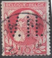 Belgique Léopold II N°74   Perfin Perforé V.H. - Perforés