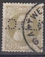 Belgique Léopold II N°75   Perfin Perforé L.D.C. - Perforés