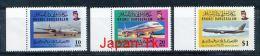 BRUNEI Mi. Nr. 484-486  Royal Brunei Airlines - MNH - Brunei (1984-...)