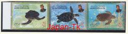 BRUNEI Mi. Nr. 595-597 Meeresschildkröten- MNH - Brunei (1984-...)