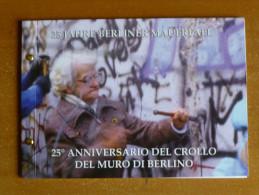Rare LIVRET 2 EURO BU + TIMBRE VATICAN 2014 25  Anniversaire De La Chute Du Mur De BERLIN - Vaticano