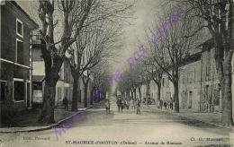 26. SAINT MAURICE D'HOSTUN . Avenue De Romans .  CPA Animée . - Otros Municipios