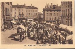 AURILLAC LE MARCHE CPA NO 14 TRES ANIMEE - Aurillac