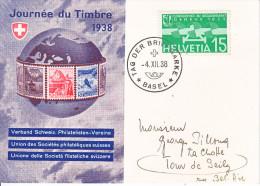 JOURNEE DU TIMBRE 1938-TIMBRE AVIATION- C=30.-- - Svizzera