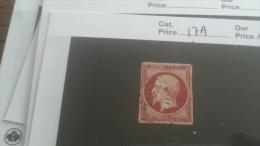LOT 246306 TIMBRE DE FRANCE OBLITERE N�17A VALEUR 65 EUROS