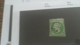 LOT 246328 TIMBRE DE FRANCE OBLITERE N�12 VALEUR 90 EUROS