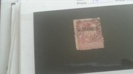 LOT 246353 TIMBRE DE COLONIE ALEXANDRIE OBLITERE N�14 VALEUR 32 EUROS