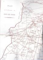 PLan De La COMMUNE De JOUE-LES-TOURS.Indre-et-loire.39,5 Cm X 33,7 Cm. - Europe